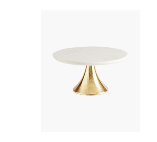 Shop the Marble and Gold Fluted Base Cake Stand