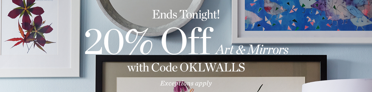 20% off Art & Mirrors