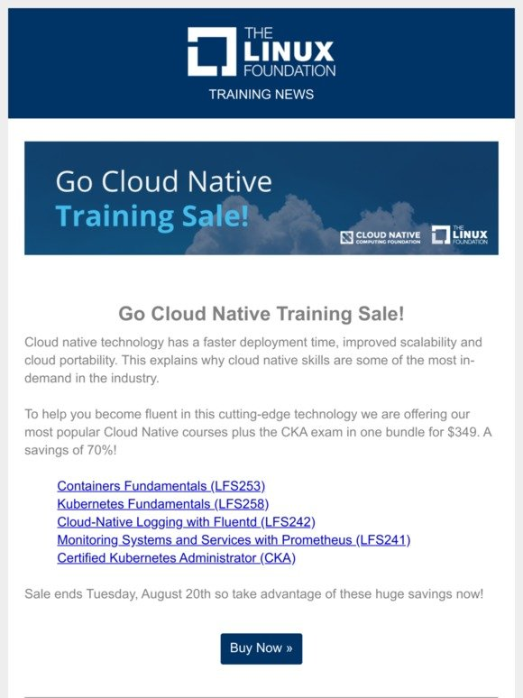 The Linux Foundation: Go Cloud Native Bundle and More!   The