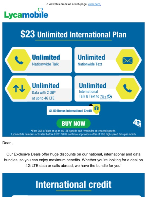 Lycamobile USA: ,Calling plans specially designed for you
