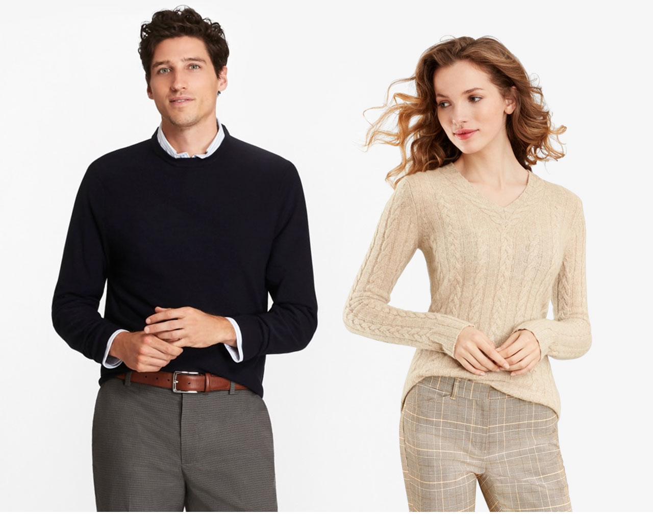 Keep It Neutral - Our lightweight merino sweaters have the perfect feel for fall. Available in neutral shades, they can be easily worn alone or over your favorite shirt.