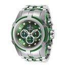 Invicta Bolt Zeus Mens Quartz 53 mm Stainless Steel, Green Case Green Dial
