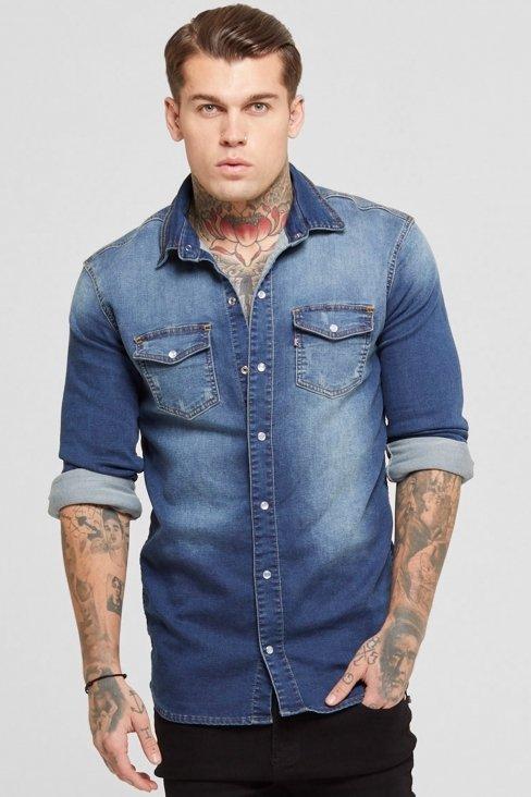Denim Washed Blue Shirt