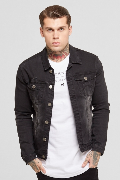 Denim Washed Black Jacket