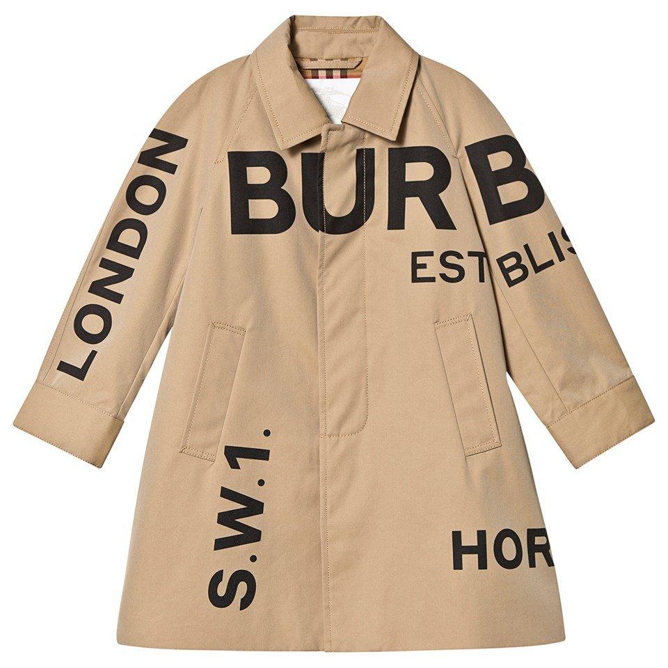 Burberry Beige Antonio Burberry Printed Trench Coat