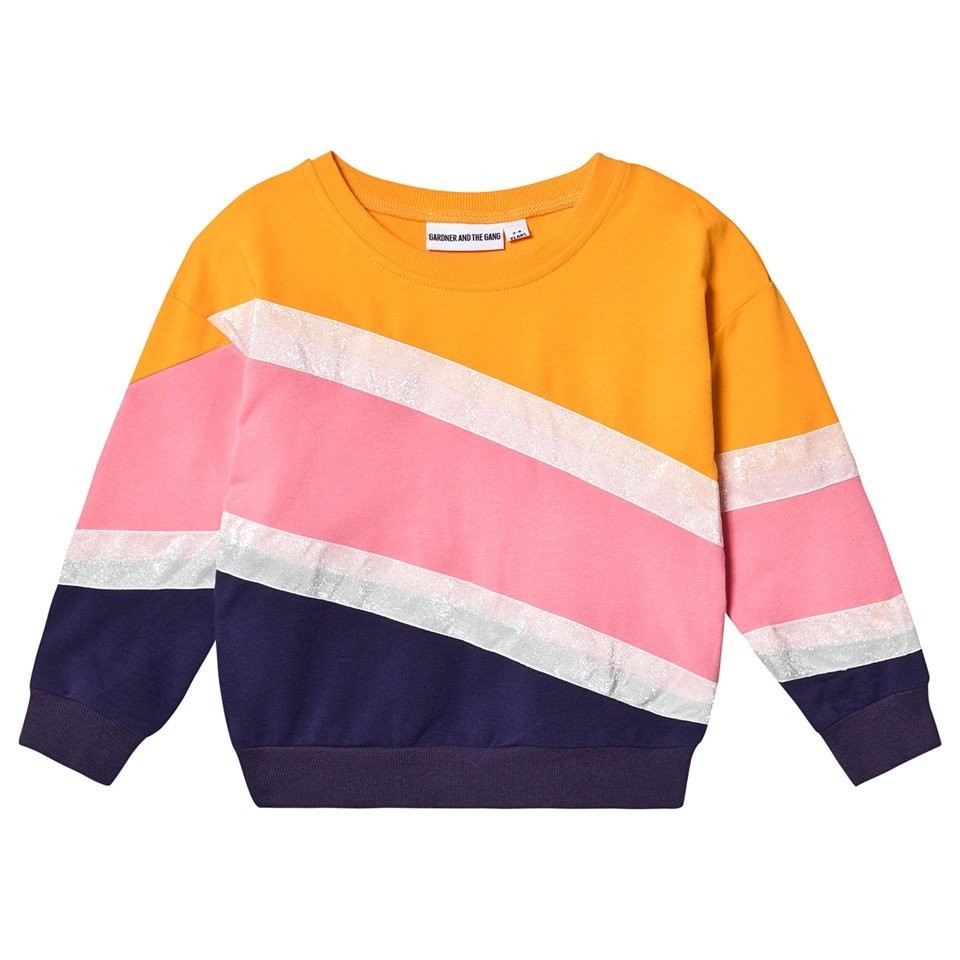 Gardner and The Gang Yellow And Pink Cut Through Mustard The Classic Sweatshirt