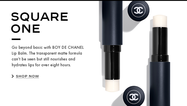 SQUARE ONE Go beyond basic with BOY DE CHANEL Lip Balm. The transparent matte formula can't be seen but still nourishes and hydrates lips for over eight hours.