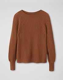 Gassato Ribbed Boat Neck Sweater