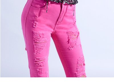 HIGH RISE FRONT & BACK DISTRESSED SKINNY