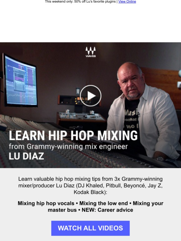 Waves Audio: Learn hip hop mixing from Lu Diaz | Milled