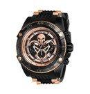Invicta Marvel Limited Golden Edition Punisher Mens Quartz 52mm Black Case Black Dial