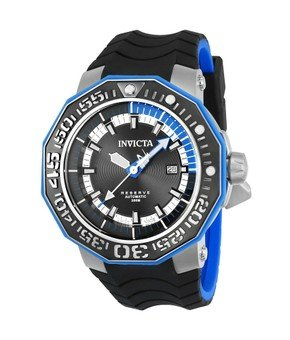 Invicta Reserve Sea Monster Mens Automatic 52mm Stainless Steel, Black Case Black Dial