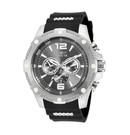 Invicta I-Force Swiss Movement Quartz Watch - Stainless Steel case with Steel, Black tone Stainless Steel, Polyurethane band