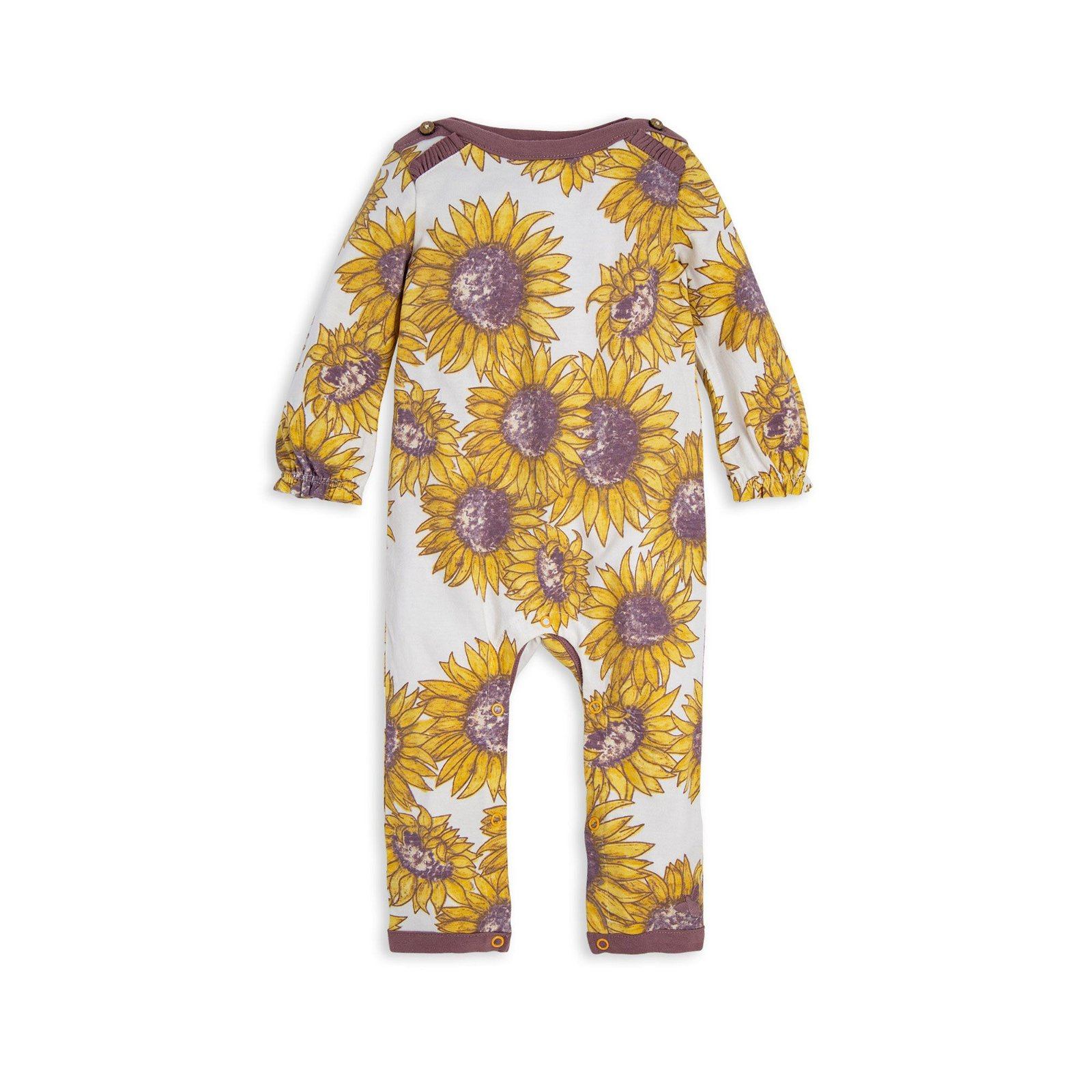 Giant Sunflowers Organic Baby Jumpsuit