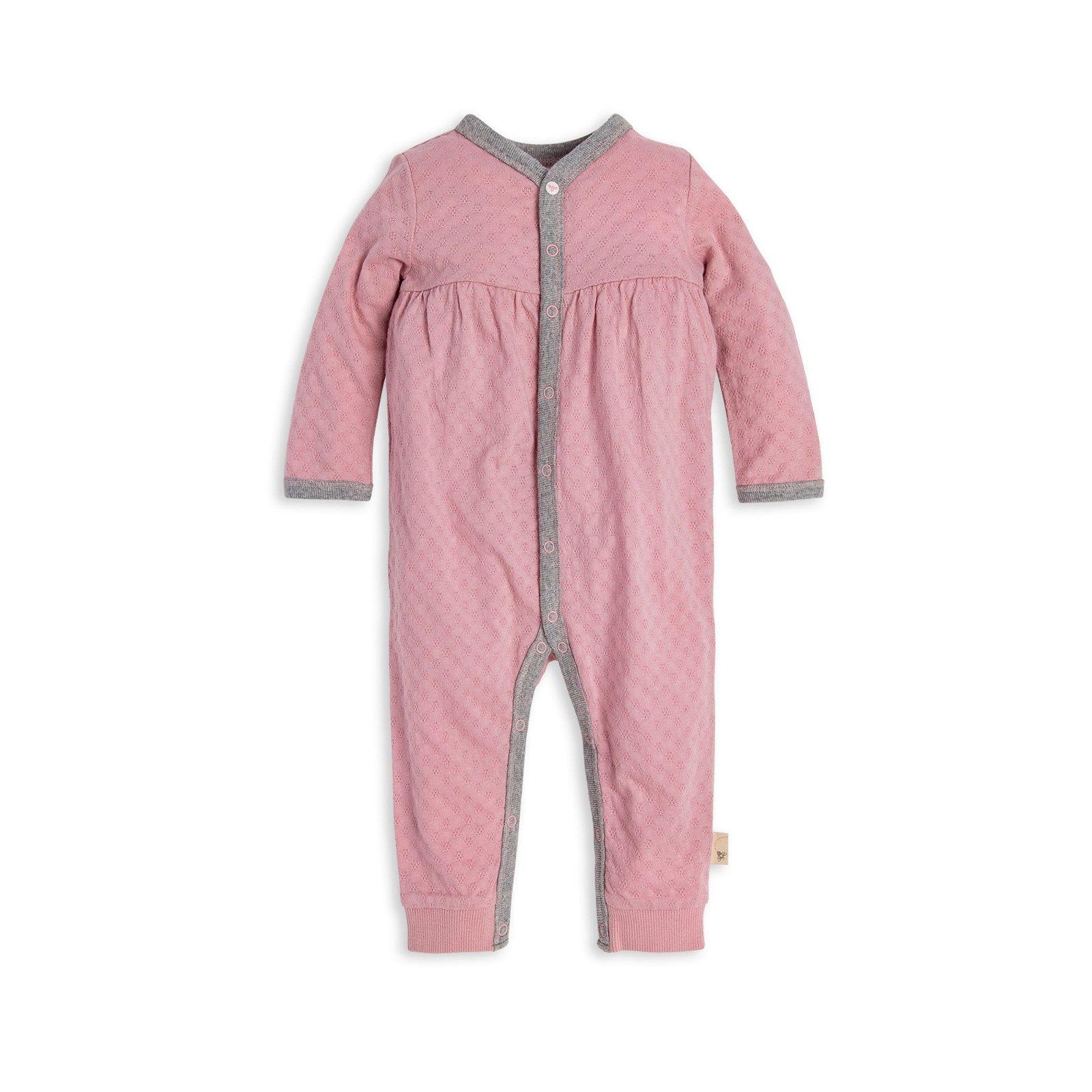 Honeycomb Pointelle Organic Baby Jumpsuit