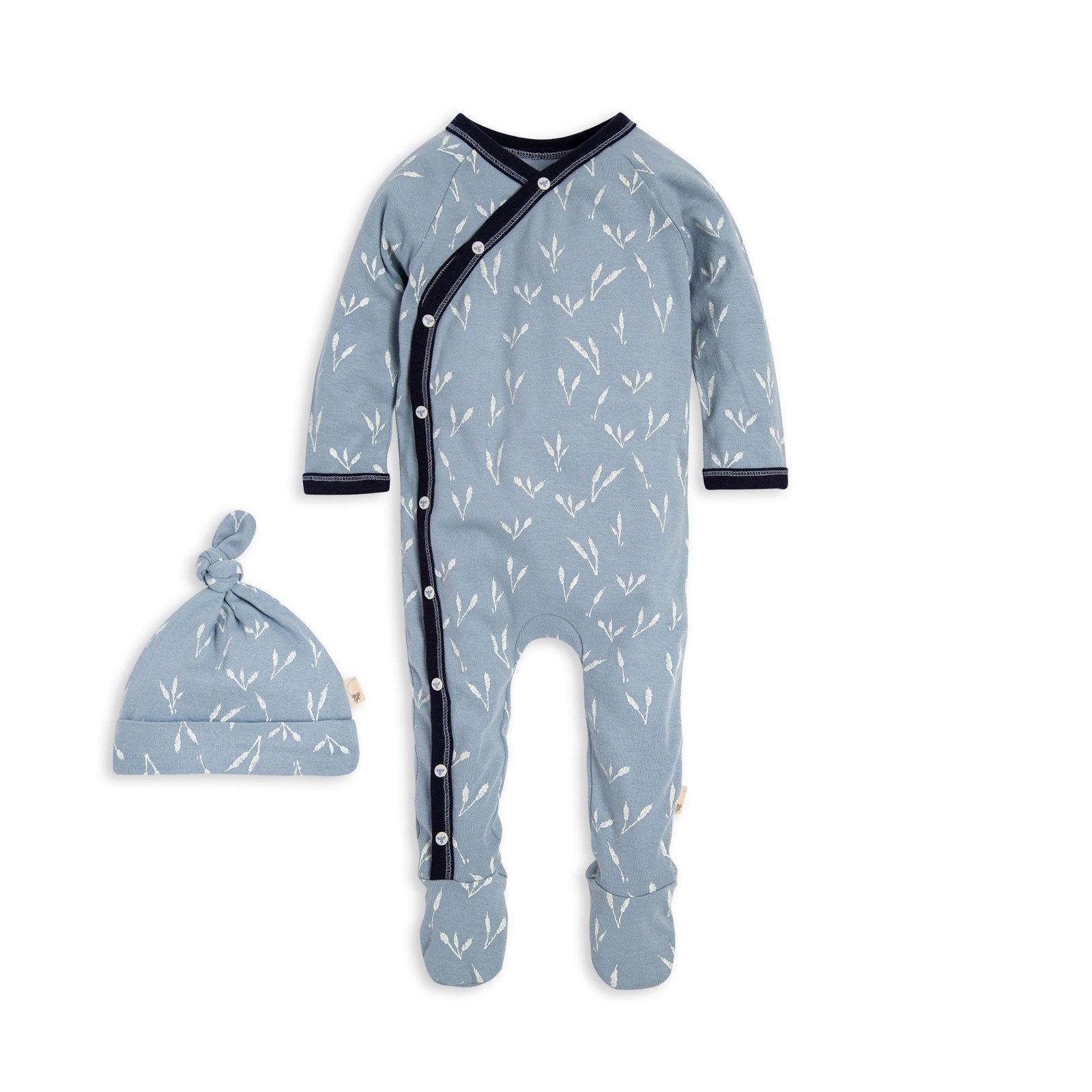 Tall Grass Organic Baby Jumpsuit & Hat Set