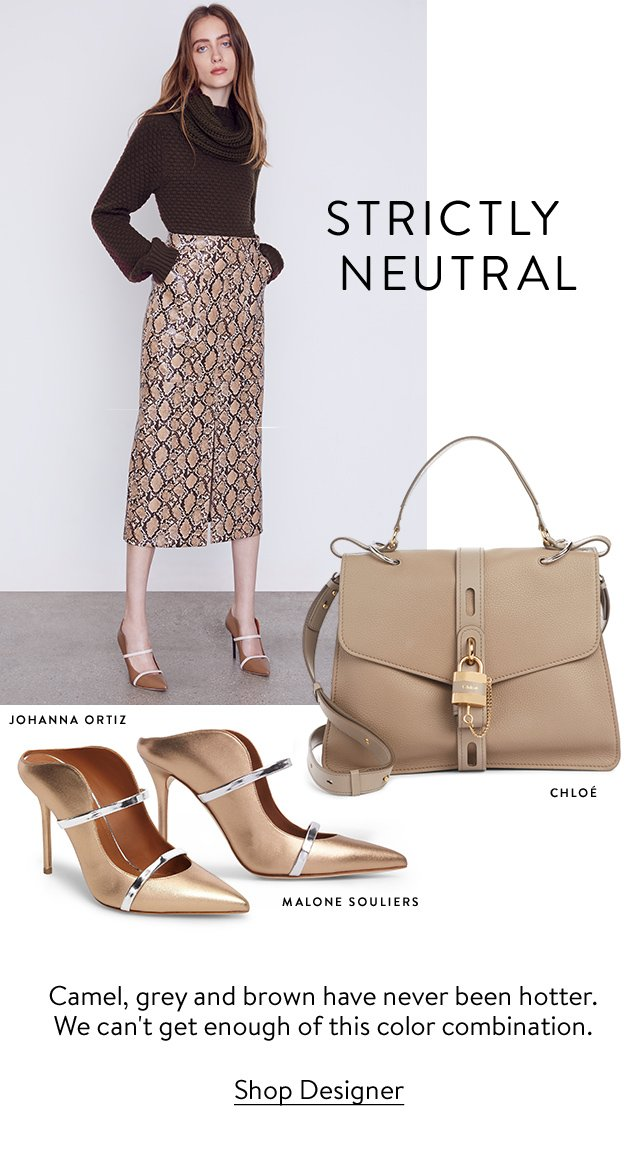 Strictly neutral: camel, grey and brown have never been hotter.