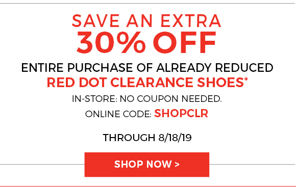 30% off Clearance Shoes