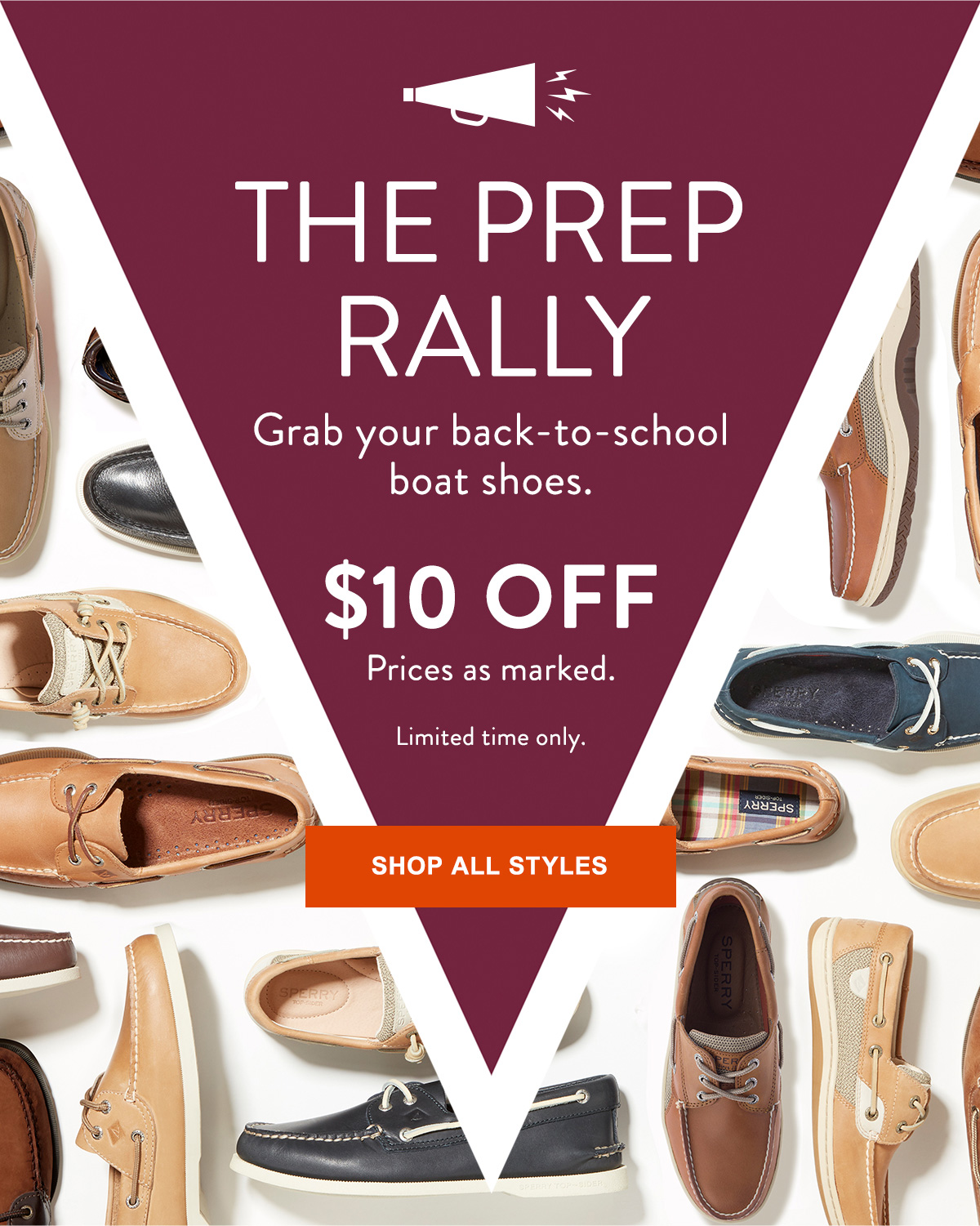 THE PREP RALLY. $10 OFF PRICES AS MARKED.
