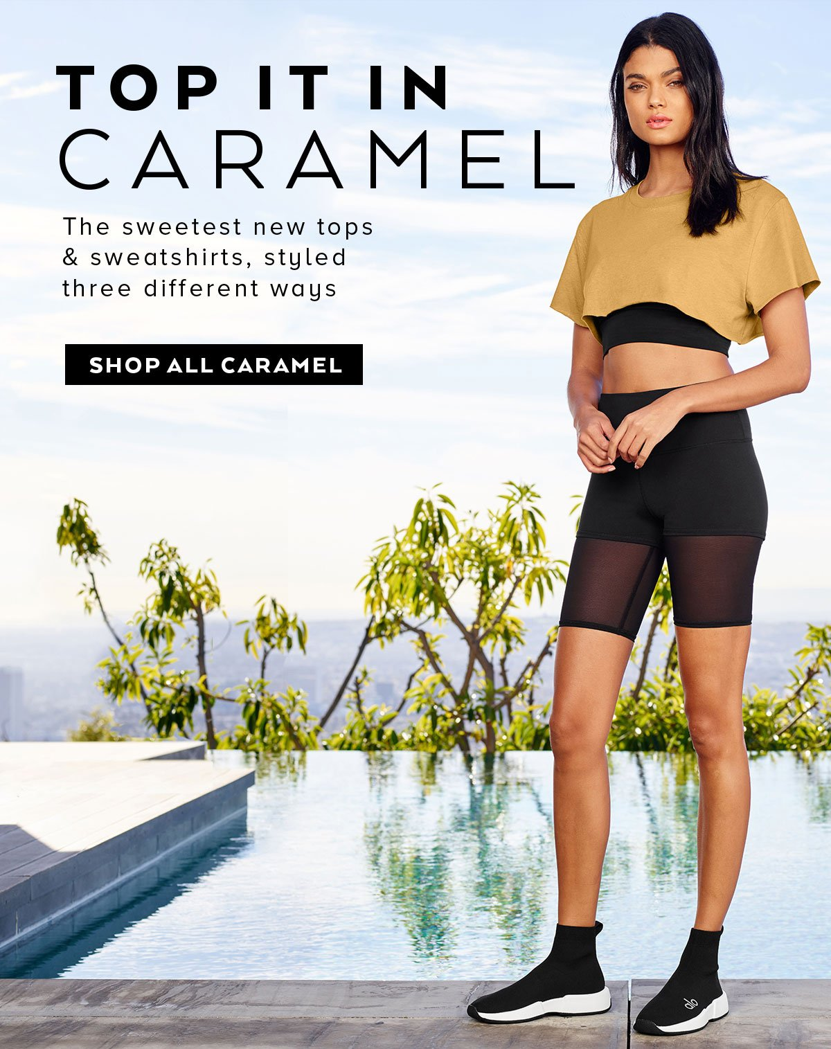 TOP IT IN CARAMEL - The sweetest new tops SHOP NOW