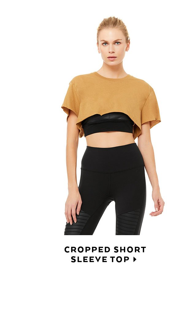 CROPPED SHORT SLEEVE TOP - SHOP NOW