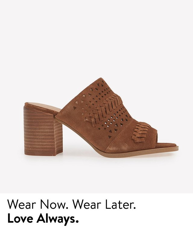 Versatile sandals for summer and fall.