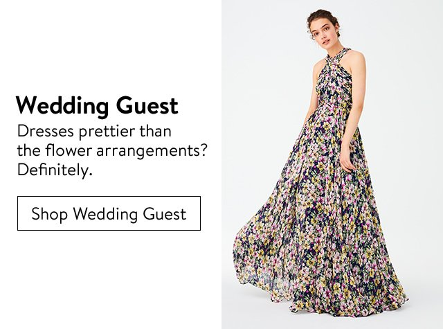 Women's wedding-guest clothing, shoes and accessories.
