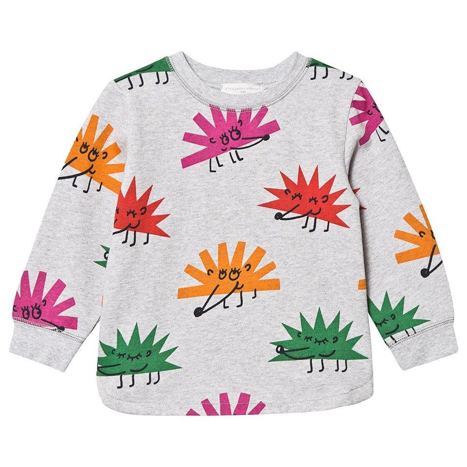 Stella McCartney Kids Grey Happy Hedgehog Print Sweatshirt