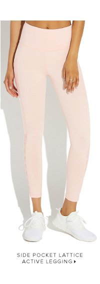 SIDE POCKET LATTICE ACTIVE LEGGINGS
