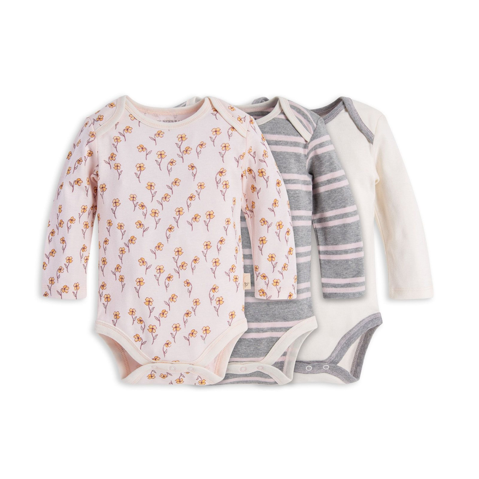 Organic Cotton 3 Pack Windy Floral Bodysuits
