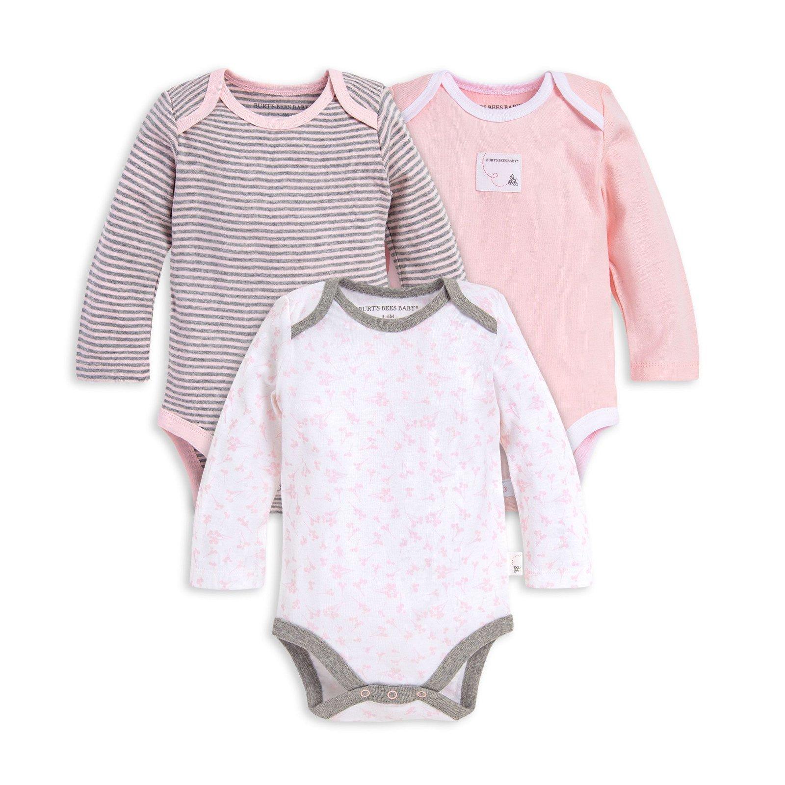 Dusty Dandelions Organic Baby 3 Pack Long Sleeve Bodysuits