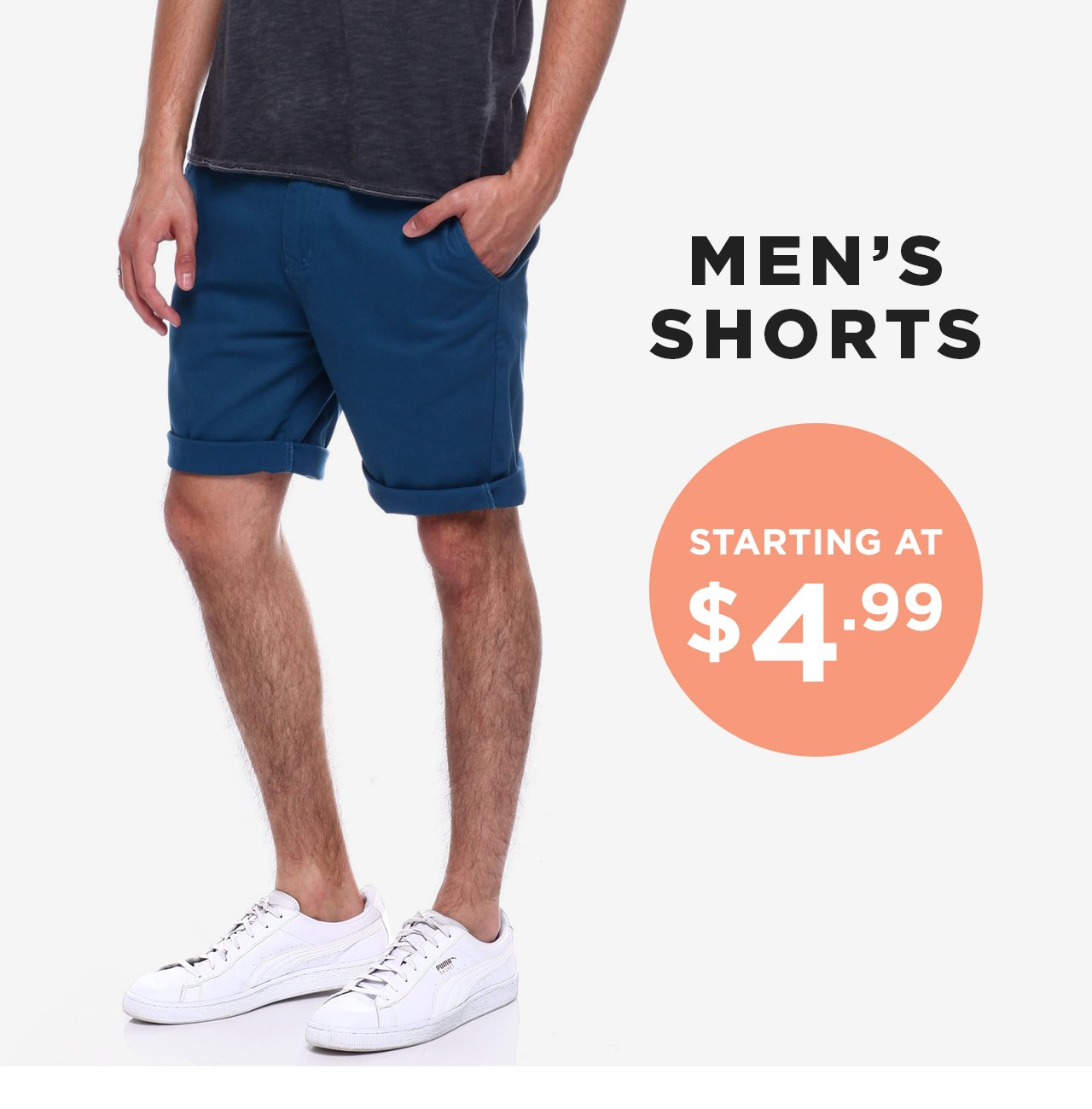 Shop Men's Shorts starting at $4.99