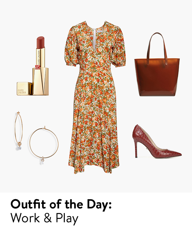 Outfit of the day: work and play.