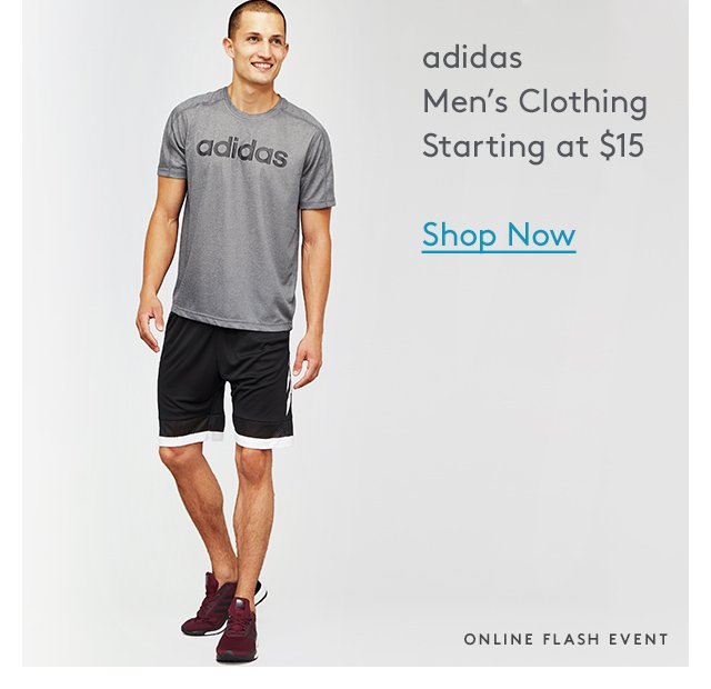 Adidas | Men's Clothing | Starting at $15 | Shop Now | Online Flash Event