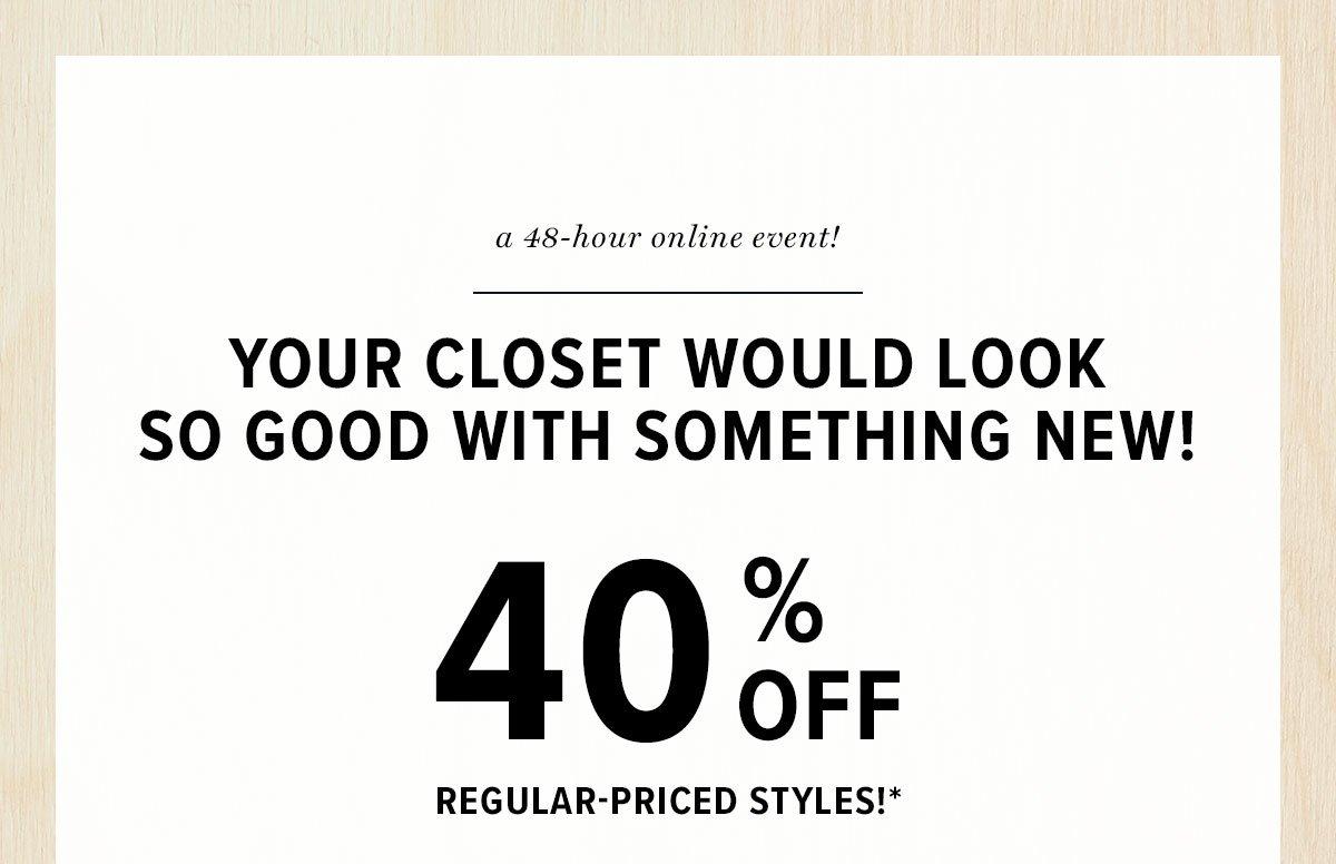40% Off*
