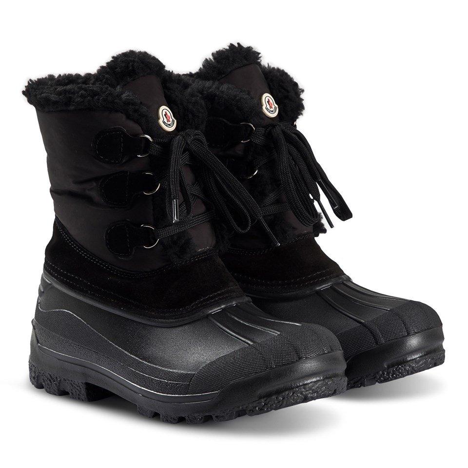 Moncler Black Christian Sherpa Lined Ski Boots