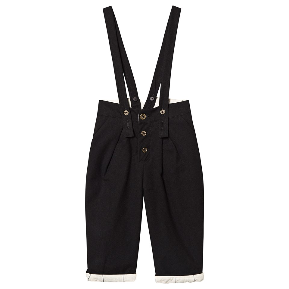 Little Creative Factory Black Cotton Trousers with Braces