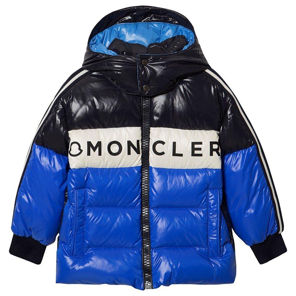 Moncler Blue Febrege Removable Hood Down Coat