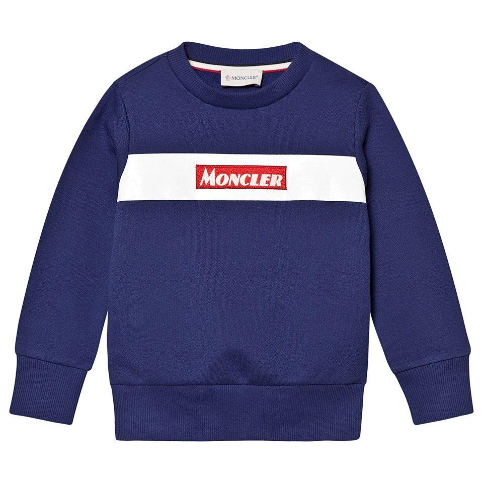 Moncler Navy Logo Patch Sweatshirt
