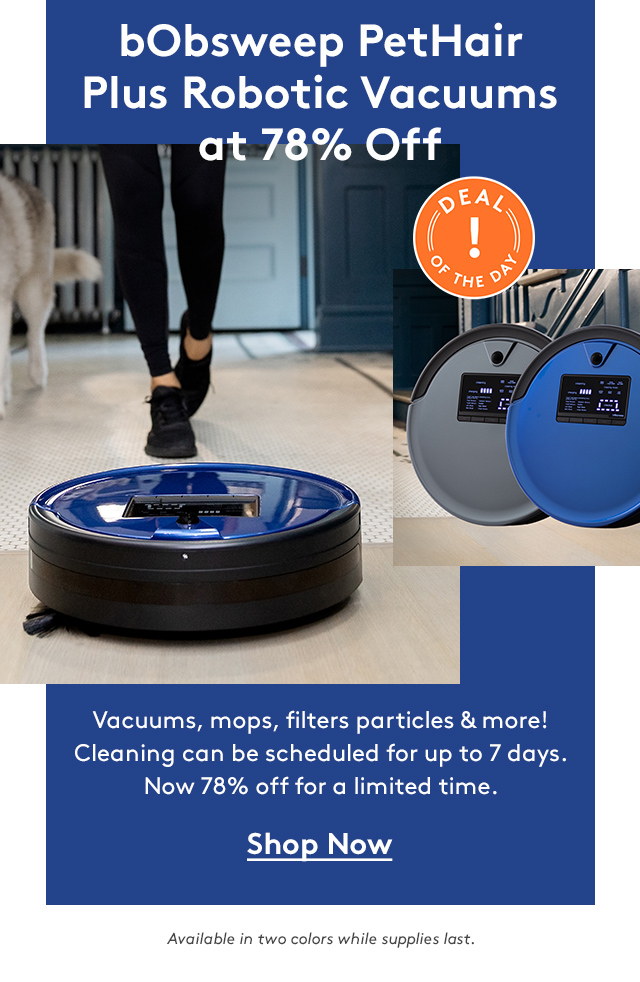 bObsweep PetHair Plus Robotic Vacuums at 78% Off