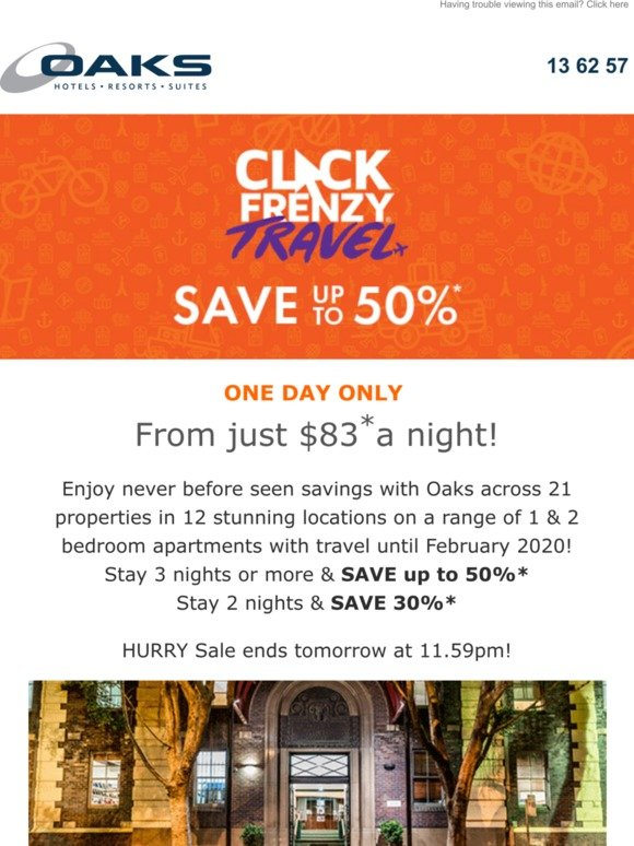 Oaks Click Frenzy Save Up To 50 Milled