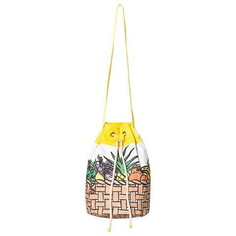 Stella McCartney Kids White Fruit Basket Print Bag