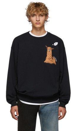 Acne Studios - Black Forba Animal-Embroidered Sweater