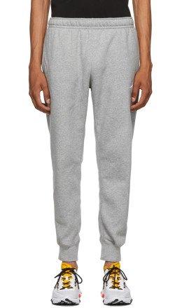 Nike - Grey Fleece Sportswear Club Lounge Pants