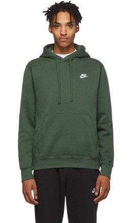 Nike - Green Fleece Sportswear Club Hoodie