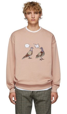 Acne Studios - Pink Forba Animal-Embroidered Sweater