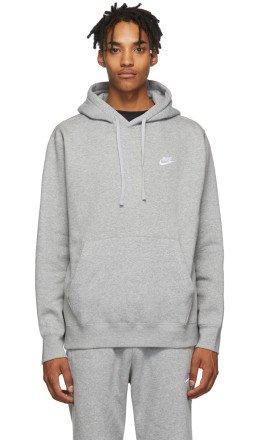 Nike - Grey Club Hoodie