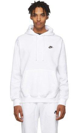 Nike - White Club Hoodie