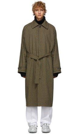 Acne Studios - Beige Vichy Check Wool Over Coat