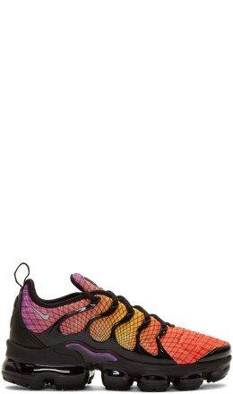 Nike - Black & Orange Air Vapormax Plus Sneakers